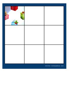 Board for the Christmas puzzle. Find the belonging tiles on Autismespektrum on Pinterest. By Autismespektrum
