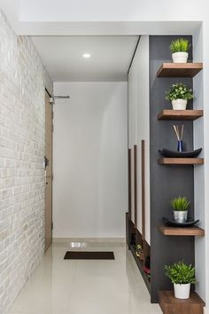 4 Marvelous Cool Tips: Rustic Floating Shelves Modern floating shelf design spaces.Floating Shelves Bedroom The Doors floating shelf laundry subway tiles. Living Room Decor, Bedroom Decor, Bedroom Loft, Decor Room, Small Hallways, Interior Decorating, Interior Design, Decorating Ideas, Hallway Decorating