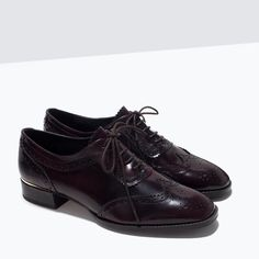 ZARA - COLLECTION SS15 - FRINGED LEATHER BLUCHERS