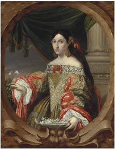 Cornelio Schut or Cornelis Schut III (c.1629-1685) —Portrait of a Lady, 1682