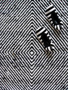 Marimekko slippers (+a cool rug)