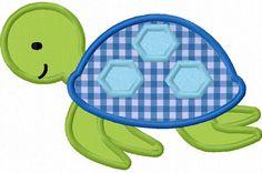 Tortugas chico apliques bordado de máquina por LovelyStitchesDesign