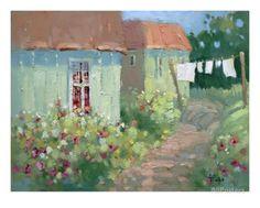 Garden Path Oil Painting By Joyce Hicks Giclee Print