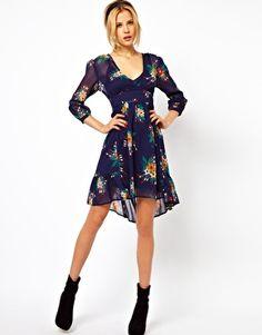 ASOS Chiffon Dress In Floral Print sooo cute Bright Dress 4f691ecca