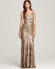 David Meister Sequin Tank Gown | Bloomingdale's
