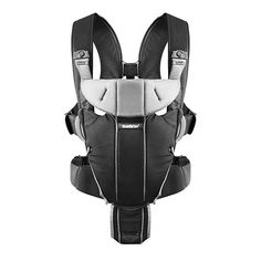 92775a966e6 Baby Carrier Miracle by Baby Bjorn - Soft Cotton Black Silver Baby Carrier  Newborn