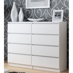 Looking for stylish storage solutions? Browse our range of white bedroom furniture & pine, oak & mirrored chests of drawers. Enjoy FREE & fast delivery on orders over Shop Online now! Double Dresser, Dresser With Mirror, Pine Bedroom Furniture, Furniture Making, New Swedish Design, Large Chest Of Drawers, Kallax Regal, Sliding Wardrobe, Wood Drawers