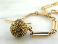 Hayward Gold Fill with Ornate Round Fob Pocket Watch Chain