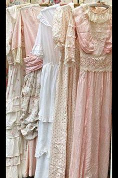 Beautiful old dresses posted by Junkin Addict. FB