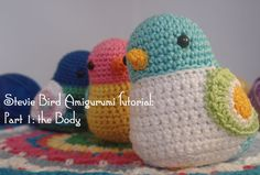 This is the first of my 3 part series on how to make my Stevie Bird, a cute little amigurumi crochet bird. I also have in my video channel the whole tutorial...