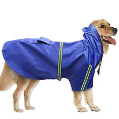 ECO-Material - Made by lightweight water resistant taffeta shell,100% polyester material with a high waterproof high breathable qualities.No odor and non-toxic,high quality with tear-resistance feature for durable and comfortable wearing Leash Opening - The hole design makes you can walk your dog with a leash even in the rainy day Handy Pocket - There is a pockt with a velcro that your dogs can carry some snacks or garbage bags inside the pocket, convenient for you