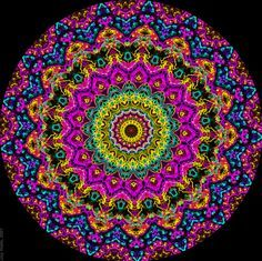 colorful lotus mandala - Google Search