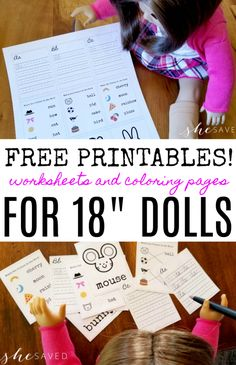 Fun for American Girl Dolls and/or 18 Dolls are these FREE printables for dolls including worksheets, coloring pages and more! If you have an American Girl doll fan then you will want to print out these FREE printable doll sized worksheets, perfect for 18 Madame Alexander, Ravenclaw, Karaoke, Ag Doll Crafts, Diy Doll, Surfboard, Girls Dollhouse, American Girl Dollhouse, American Girl House