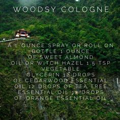 Woodsy men's cologne recipe using young living essential oils. Find more on The Oil Hub on Facebook or at www.yldist.com/kristenwells2011