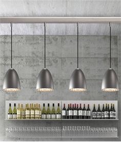 Cool, calm and very modern. The Nexus 20 Brushed Steel Pendant Light is the perfect pendant lighting solution for the modern home or business. Copper Lamps, Copper Lighting, Kitchen Pendant Lighting, Antique Lighting, Ceiling Pendant, Bar Lighting, Lighting Ideas, Suspension Bar, Bedside Lighting