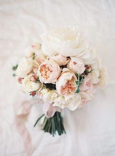blush & cream peonies for the bridal bouquet | image via: snippet & ink #weddingflowers