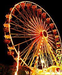Orange ferris wheel