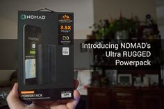 9000 mAh POWERPACK from NOMAD is ultra-rugged and ready for you! - http://wp.me/p7vS8f-wA #9000mah #charger #fastcharge #hellonomad #nomad #portablebattery #powerpack #ultrarugged