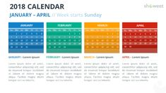 2018 calendar powerpoint templates charts diagrams for 2018 calendar powerpoint templates toneelgroepblik Gallery
