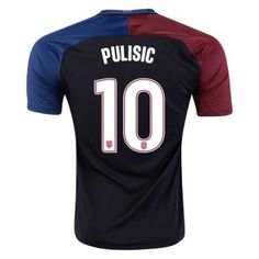 392ad1d69ff 2016/17 USA Christian Pulisic 10 Black Away Soccer Jersey Football Shirt  Trikot Maglia Playera De Futbol Camiseta De Futbol