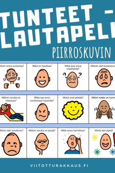 Finnish Language, Les Sentiments, Occupational Therapy, Teacher, Education, Feelings, Learning, School, Mindfulness