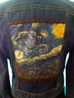 Blue Jean Denim TARDIS Doctor Who Jacket