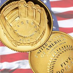 2014 W National Baseball Hall of Fame GOLD PROOF Coin $5 IN STOCK & SHIPS ASAP | CLOVER ENTERPRISES ''THE ENTERTAINMENT OF CHOICE'' | http://www.scoop.it//clover-enterprises-the-entertainment-of-choice