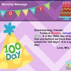Special Calendar just for the 100th day!!