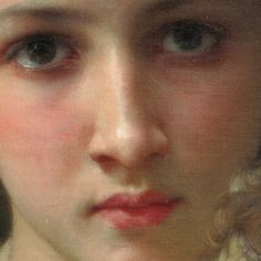 William-Adolphe Bouguereau (FRENCH, 1825-1905) Detail from Les deux soeurs signed and dated 'W. BOUGUEREAU 1877' (on the bench, lower left) oil on canvas 53 x 31 in. (135.8 x 79.3 cm.)