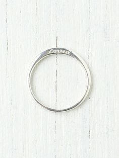 St. Kilda Loved Ring at Free People Clothing Boutique. Possible promise ring?
