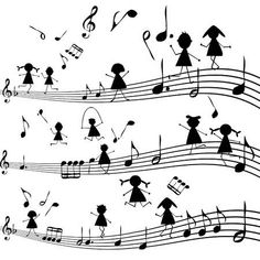 Stock Vector Illustration of Music note with stylized kids silhouettes vector art, clipart and stock vectors. Kids Silhouette, Silhouette Vector, Music Painting, Photo Images, Music Pictures, Music Education, Music Is Life, Art Of Music, Music Notes Art