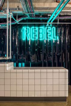 Studio C102 designs 1Rebel gym to look like a nightclub