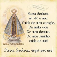 Nossa Senhora Aparecida, rogai por nós! 🙏💙🙏💙🙏 Blessed Mother Mary, Blessed Virgin Mary, Jesus Prayer, Meaning Of Life, Faith, Lettering, Instagram Posts, Quotes, Humor
