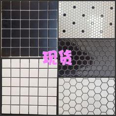 pas cher hexagonale en cramique mosaques petit blanc hexagonale carrelage noir cheval carr piscine ddi salle - Mosaique Pas Cher Salle Bain