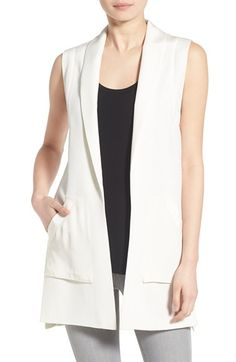 Rebecca Minkoff 'Bitten' Silk Shawl Collar Vest