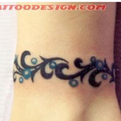 Ankle bracelet tattoo - base for reworking old tattoo Lace Bow Tattoos, Anklet Tattoos, Mom Tattoos, Trendy Tattoos, Tribal Tattoos, Tattoos For Guys, Tatoos, Bracelet Tattoos With Names, Wrist Bracelet Tattoo