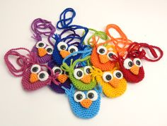 Owl coin purses, free crochet pattern