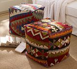 Need to make this with my old rugs..Kilim Cube Cover