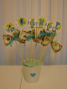 Money Bouquet. This idea would work for any occasion - new baby, birthday, valentine's day, etc.
