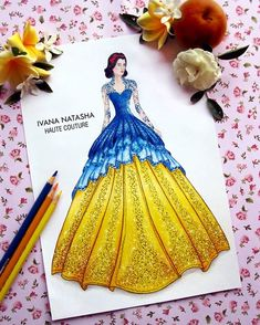 """""""Lace is never boring to wear"""" Second fashion illustration design for Disney Princess evening gown collection Inspired by Disney… Disney Princess Fashion, Disney Inspired Fashion, Disney Princess Dresses, Disney Dresses, Disney Style, Disney Love, Disney Fashion, Disney Princesses, App Drawings"""