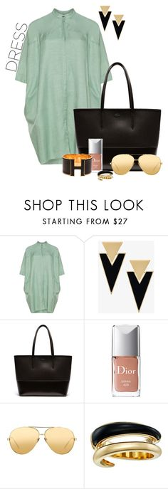 """""""Untitled #379"""" by elenarudometov ❤ liked on Polyvore featuring Yves Saint Laurent, Lacoste, Christian Dior, Linda Farrow, Michael Kors and Hermès"""