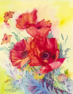 poppy Note Cards, Poppy, Earth, Watercolor, Unique Jewelry, Garden, Handmade Gifts, Pretty, Flowers
