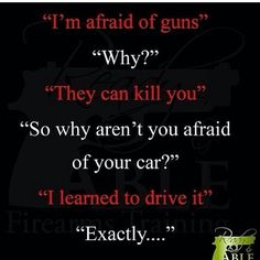 I think that this quote really shows both sides of the amendment. This shows that people can learn to work around problems that are given to us. Despite being on such a broad issue like gun control. Gun Quotes, Wise Quotes, Pro Gun, Learning To Drive, Gun Rights, Thing 1, Gun Control, 2nd Amendment, Common Sense