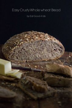 Easy crusty whole wheat bread. This is done in a dutch-oven. No kneading req… Easy crusty whole wheat bread. This is done in a dutch-oven. No kneading required. The easiest bread recipe I have ever made! Dutch Oven Bread, Dutch Oven Recipes, Easy Bread Recipes, Cornbread Recipes, Jiffy Cornbread, Chef Recipes, Soup Recipes, Wheat Bread Recipe, Wholemeal Bread Recipe