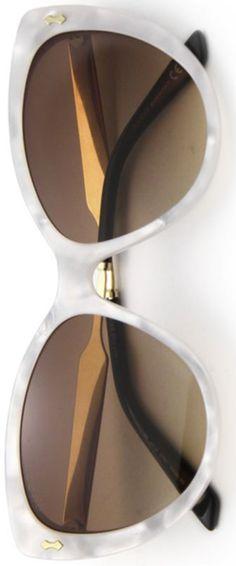 Gucci 57mm-acetát és fémek hulladékhús Eye Sunglasses