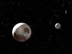 Cap 1: Pluton y su luna Caronte. El mensaje de los extraterrestres hubo originado acerca de estos dos.
