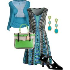 """Teal, black, and green"" by iris-ireland on Polyvore"