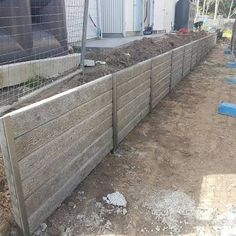 Image result for h bar sleeper retaining wall