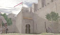 Recreación de una puerta de la Muralla de Mursiyâ
