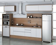 Como-montar-cozinha-planejada-barata Small Space Kitchen, Kitchen Room Design, Kitchen Sets, Home Decor Kitchen, Interior Design Kitchen, Home Kitchens, Kitchen Modular, Modern Kitchen Cabinets, Kitchen Tiles